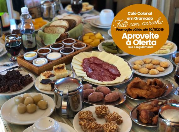 Promo��o de ter�a a domingo valido at� 30/11/2019 - Cafe Colonial para 1 pessoa de R$80,00 por apenas R$56,90