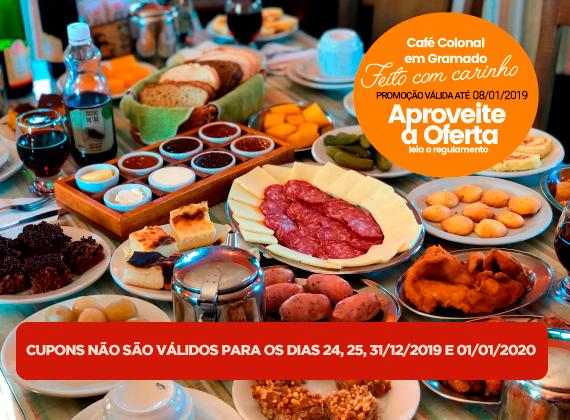 Promo��o de ter�a a domingo v�lida at� 08/01/2020 - Cafe Colonial para 1 pessoa de R$80,00 por apenas R$49,90