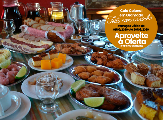 Promo��o de Ter�a a Domingo do dia 01/02/2020 at� 20/03/2020 - Cafe Colonial para 1 pessoa de R$80,00 por apenas R$39,90