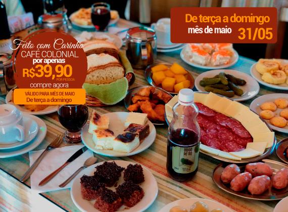Promo��o m�s de Maio - Cafe Colonial para 1 pessoa de R$80,00 por apenas R$39,90