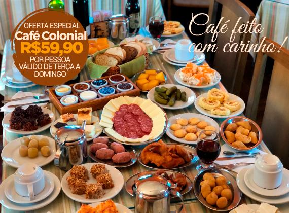 Promo��o - Cafe Colonial para 01 pessoa de R$90,00 por apenas R$59,90