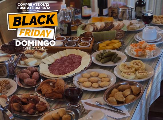 BLACK FRIDAY Promo de domingo - Cafe Colonial para 01 pessoa de R$90,00 por apenas R$59,90